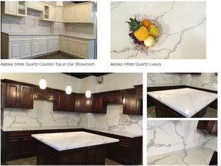 Calacatta gold white quartz kitchen Countertops