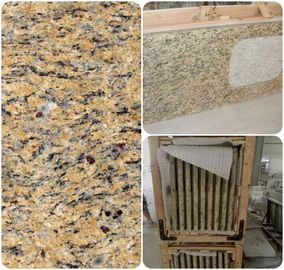 Venetian Gold Solid Granite Worktops For Bathroom Vanity / Kitchen