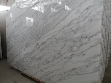 High Density Marble Wall Panels For Showers / Room , White Marble Slab  Flooring