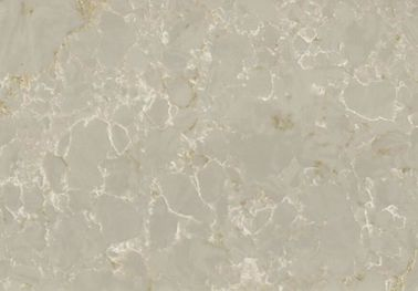 Marble Veins Quartz Stone Countertops For Kitchen Polished Surface
