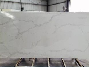 QS 5131 Standard White Quartz Bathroom Countertops Concrete White Color