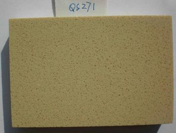 Grade A Hard Quartz Stone Tiles , 12mm Thickness Engineered Quartz Tile