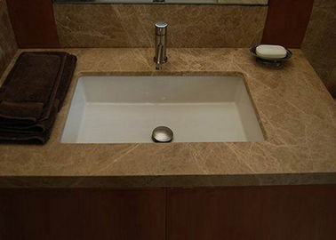 Emperador Light Brown Marble Stone Countertops For Bathroom / Kitchen