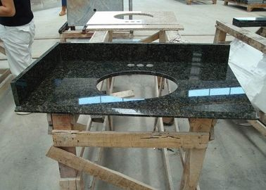 Dark Green Uba Tuba Granite Countertops , Polished Granite Stone Countertops
