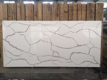Elegant Design Calacatta Quartz Countertops , Luxury White Quartz Vanity Top
