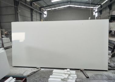Pure White Quartz Stone Countertop 2.6g/cu.cm Density 52.7MPa Flexural Strength