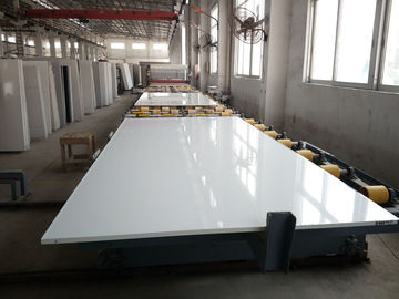 Pure White Quartz Stone Slab Customized Exporting Countertop 3000 X 1400 Mm Size