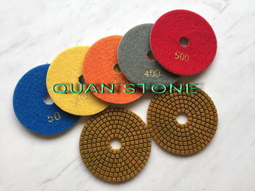 Reliable Wet Flexible Polishing Pads With Diamond Polishing Buff Material