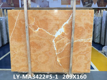 Orange onyx tile and slab For Luxury building interior decoration