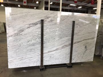 Colonial White Luxury Granite And Quartzsite Stone Slab For Book Matched Background