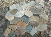 Outside Block Paving Stones , Hard Quartzite Slate Paver Stepping Stones