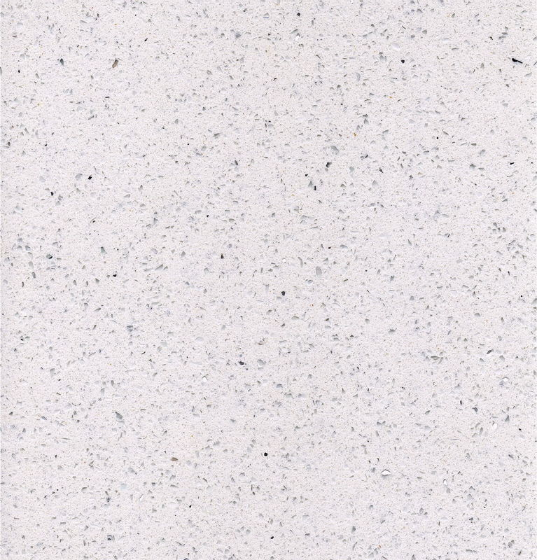 Hard Quartz Kitchen Slab Stone 2cm Thickness Custom Color / Design