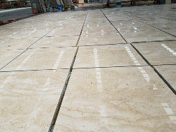 Beige Oman Natural marble tile slab for hospitality renovation