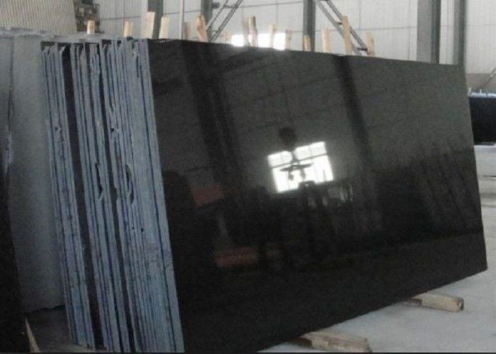 Absolute Black Granite Shanxi Pure Slabs For Wall Flooring Tiles