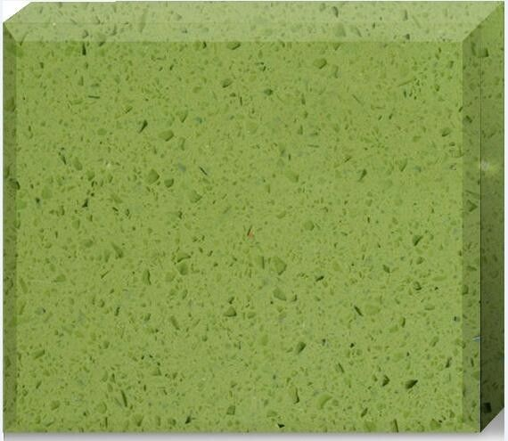 Olive Green Quartz Stone Countertops Color Optional Customized Size