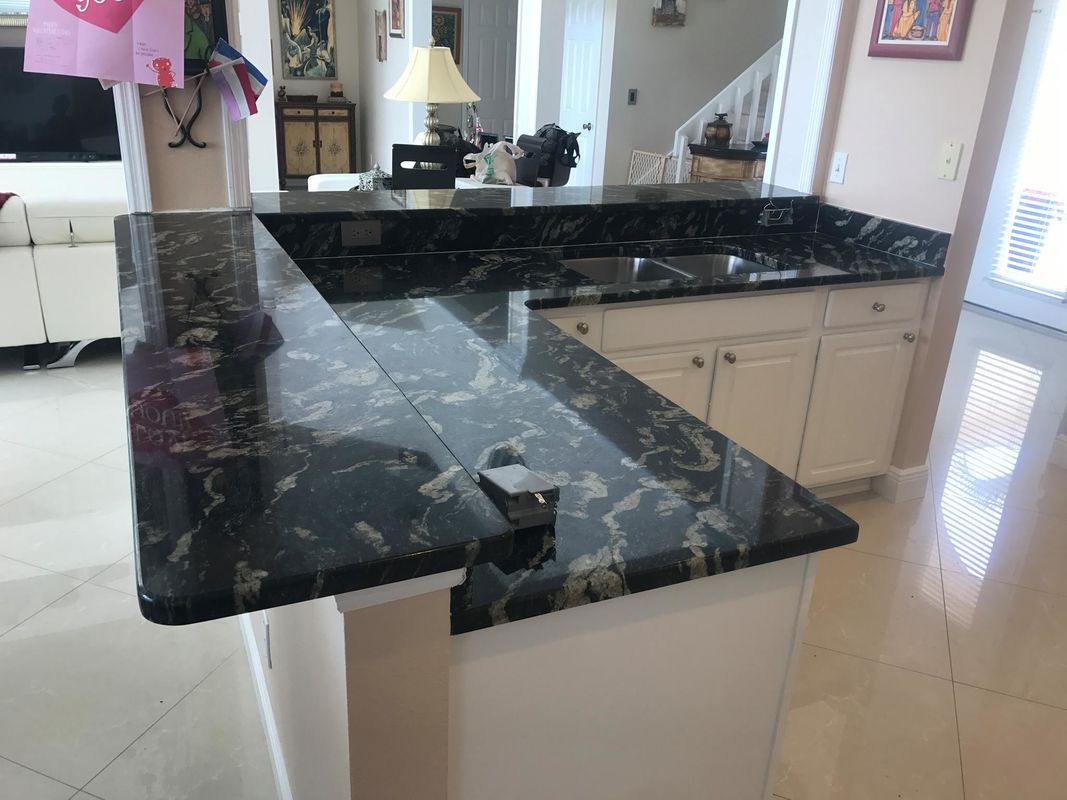 Commercial kitchen remodelling Customized engineering Quartz Stone Countertops