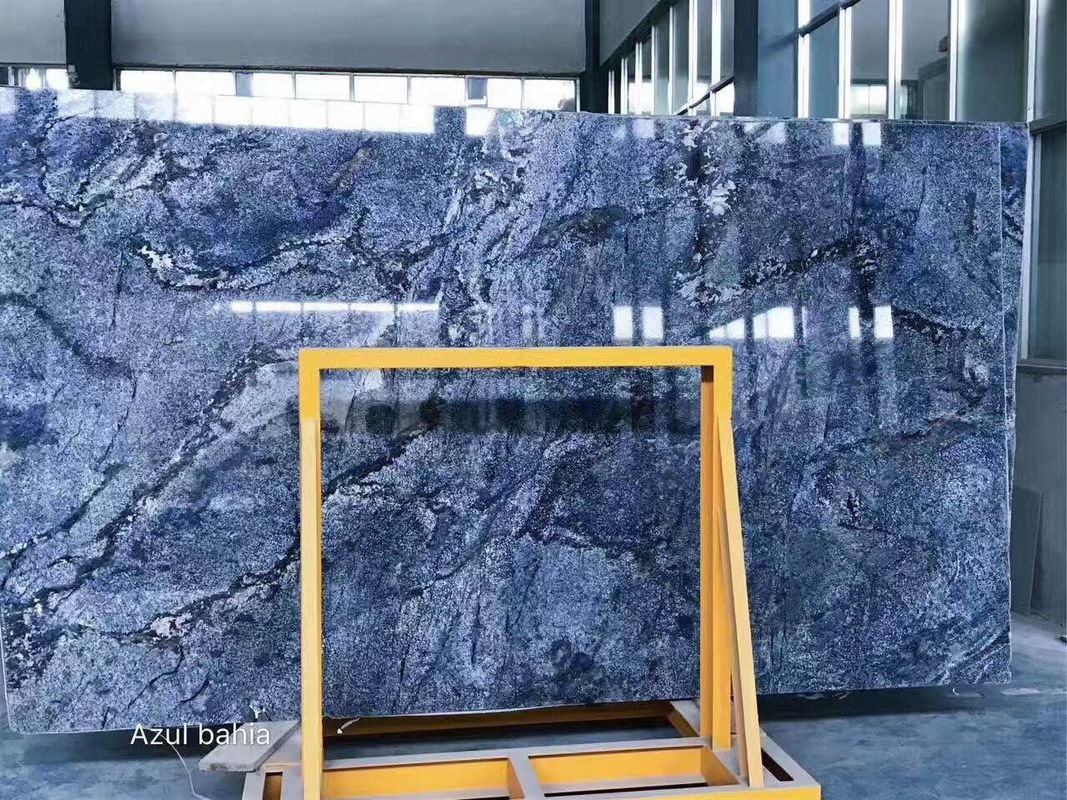 Smooth Surface Natural Stone Slabs High Strength Marble Raw Material