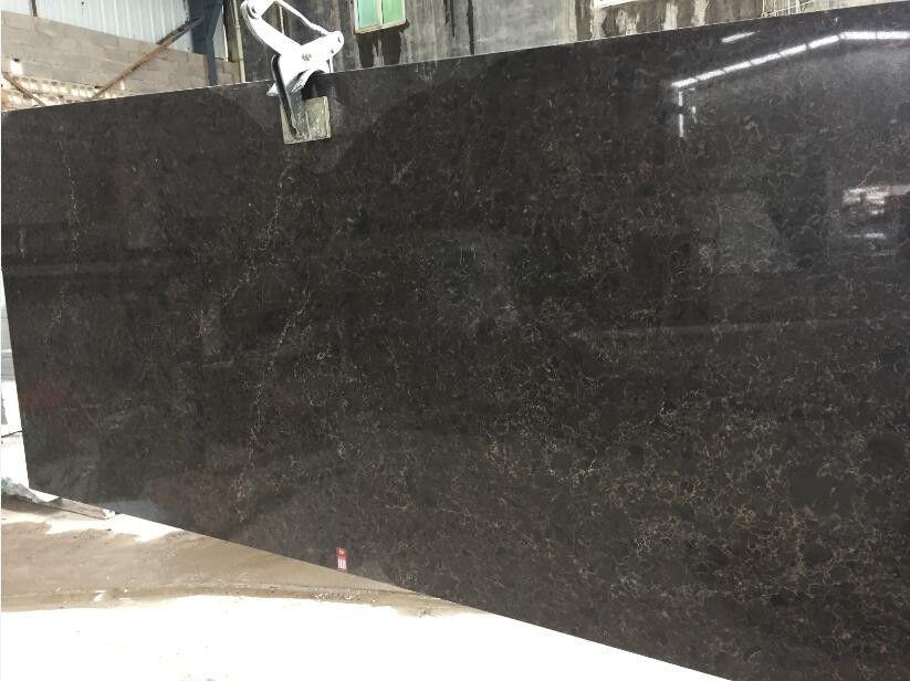 Artificial Black Quartz Countertops High Purity Natural Quartz
