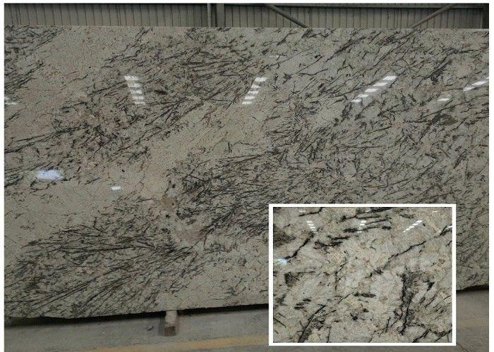 Blue Cream White Granite Slabs Prefabricated Smooth Stone Slab