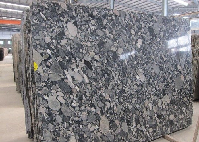 Mosaic Black Granite Slab For Work Top , High Hardness Granite Stone Slabs