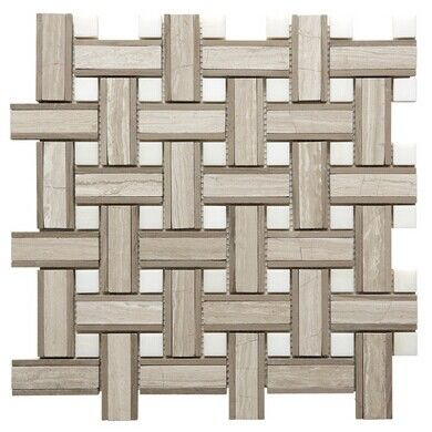 Onyx White Chevron Mosaic Tile , 7 / 8mm Thick Bathroom Stone Mosaic Tile