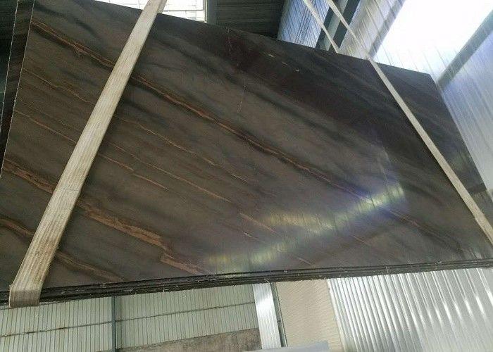 Quartzite Granite Marble Slabs Elegant Brown Solid Surface Stone Slab Tiles