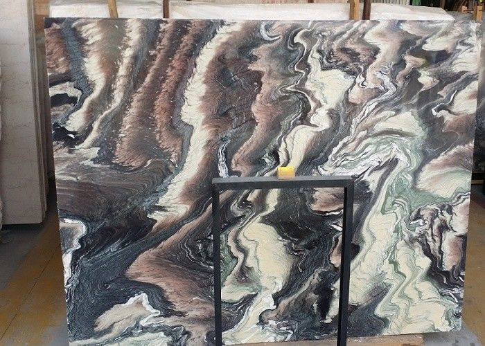 Decorative Natural Stone Slabs Fantaxy Landscaple Pattern Above 85 Gloss