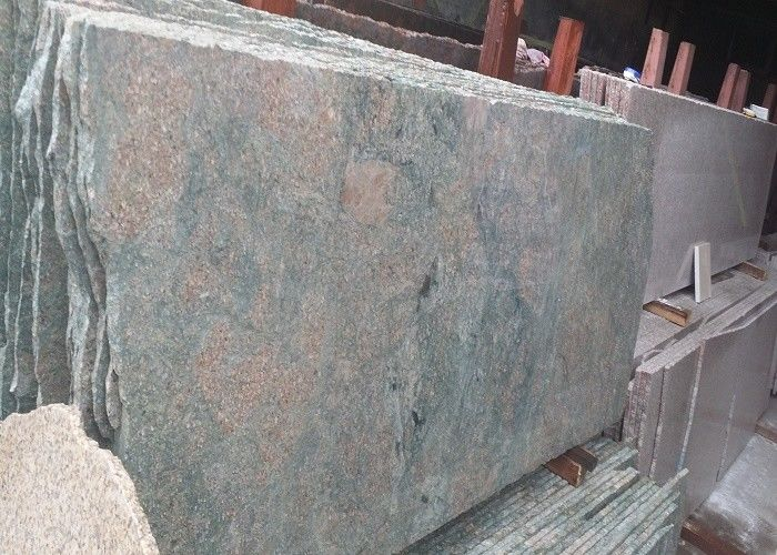 Teal Green Popular Large Granite Slabs , Paradise Natural Granite Kitchen Slab