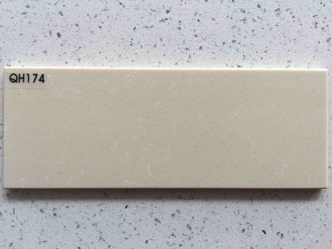 Kitchen Countertop White Quartzite Slabs Pure Modified Acrylic Material