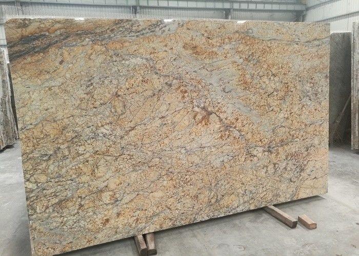 Golden Yellow Stone Granite Slabs , 2.72g / Cm³ Density Large Stone Slabs