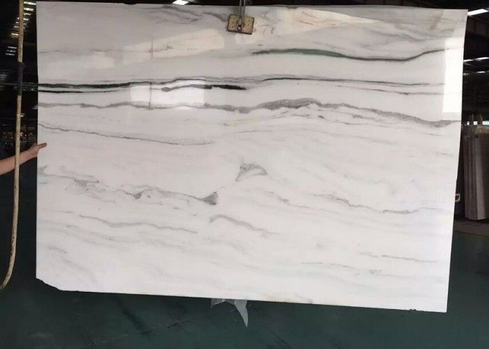 Wall Natural Stone Marble Tiles , 2.7g/Cm³ Density Large White Marble Floor Tiles