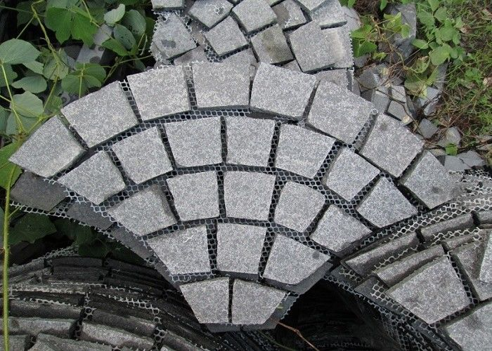 Floor Granite Stone Tiles Corrosion Resistance Customized Cut Size
