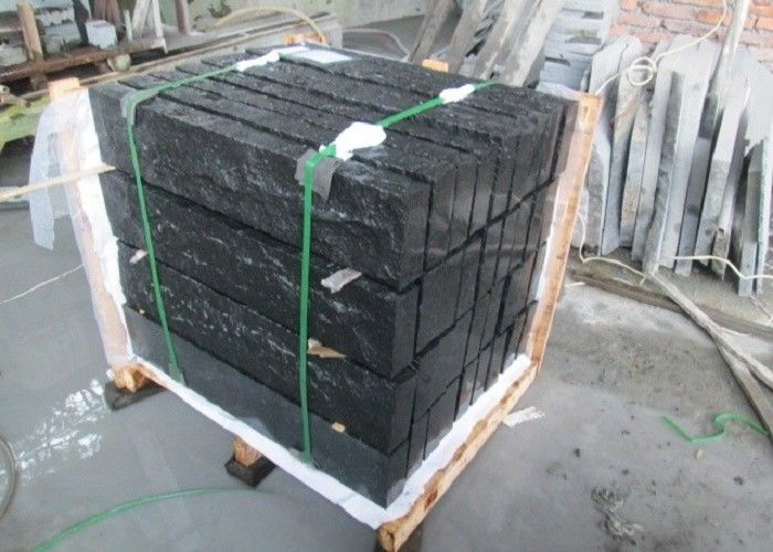Paving Black Pearl Granite Tiles , 26.3MPA Flexural Strength Black Granite Slab