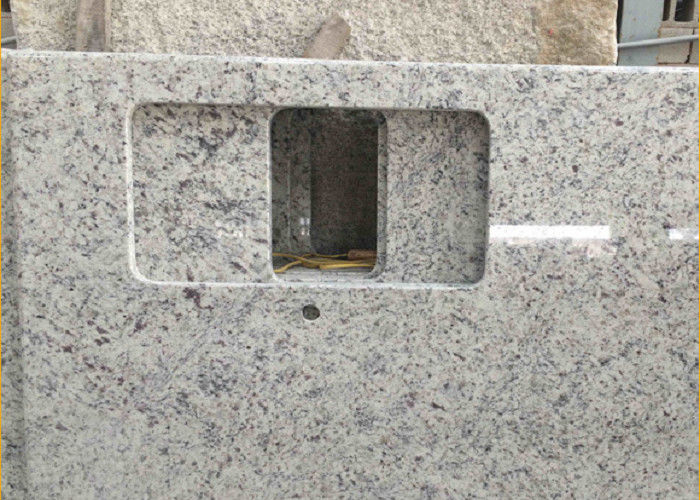 Giallo Sf Real Solid Granite Worktops For Kitchen / Bathroom White Color