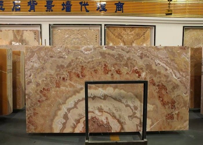 Wall Decoration Natural Marble Tile Polished Finish Smooth Surface