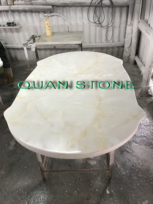 Custom Bathroom Vanity Tops / Marble Vanity Countertops Lightweight And High Strength