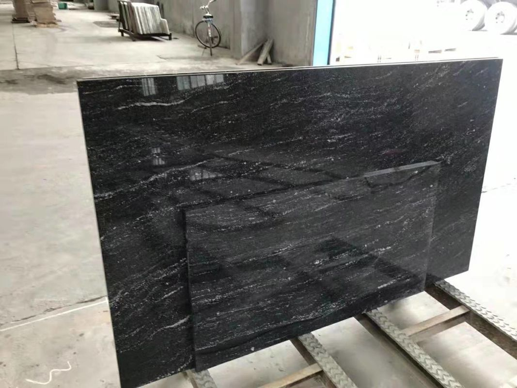 High Strength Jet Black Solid Granite Worktops For Residental Appartment supplier