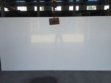 China Caesar 4600 Solid Stone Kitchen Worktops , Quartz Solid White Countertops factory