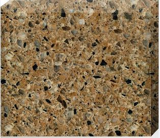 China 93% Quartz Stone Countertops / Flooring Tiles 15 - 30mm Thickness Optional factory