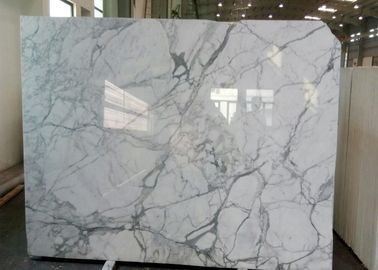 China Natural Statuario Marble Tiles , Customized Size White Marble Floor Tile factory