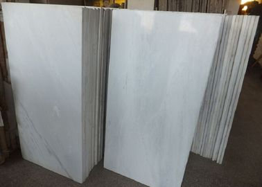 China Pure White Polished Marble Floor Tiles , High Hardness Decorative Marble Tile factory