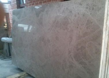 China Solid Marble Stone Countertops Slab Brown Color Polished Finish Surface factory