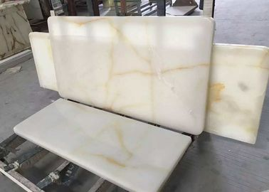 China Cream Onyx Natural Marble Tile / Cream Marble Floor Tiles Onyx Type For Floor factory