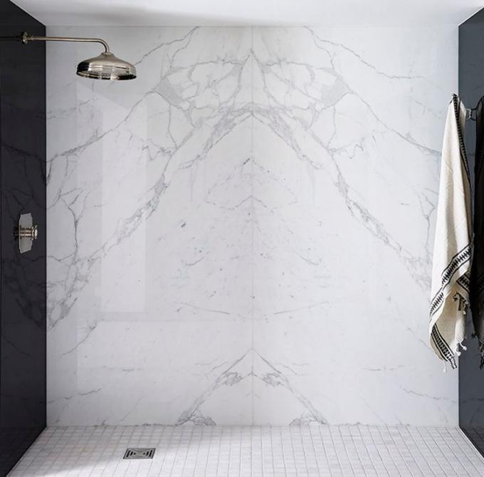 Best price home design natural stone white carrara marble tile