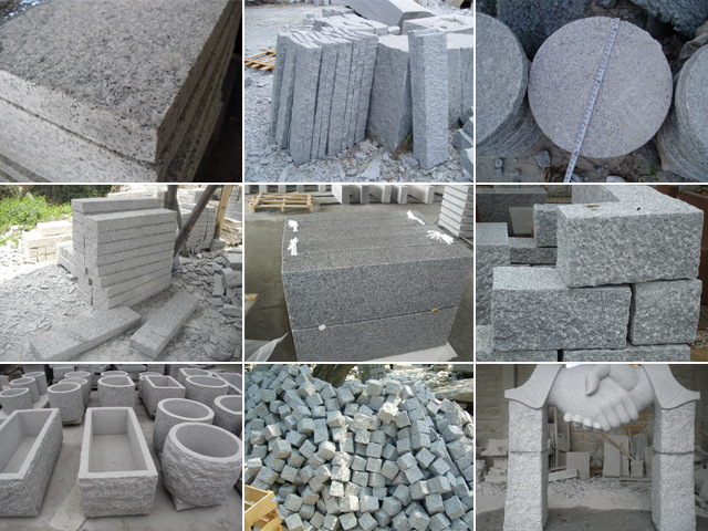 G603 Padang Cristall Lunar Pearl Crystal white Light grey white  Granite stone slabs tiles
