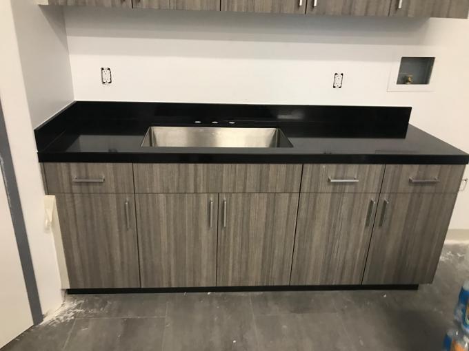 Delightful Black Natural Granite Countertops , High Density Solid Black Granite  Countertops