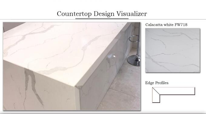 Residential Bathroom vanity top remodelling Customized engineering Quartz Stone Countertops