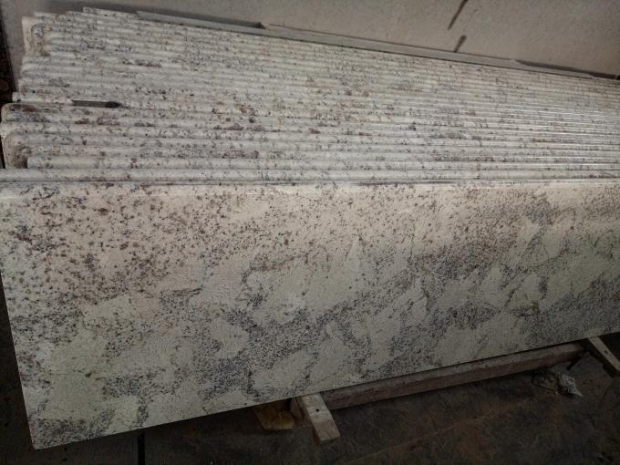 Pure White Galaxy Natural Stone Slabs For Household Edge Optional