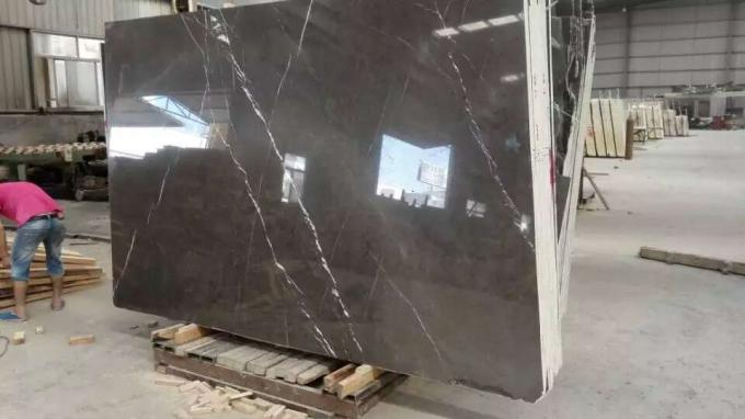 Antique Dark Grey Marble Countertops Custom Cut Size 2.63g / Cm³ Density