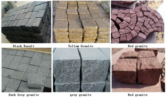 G666 red paving stone tiles